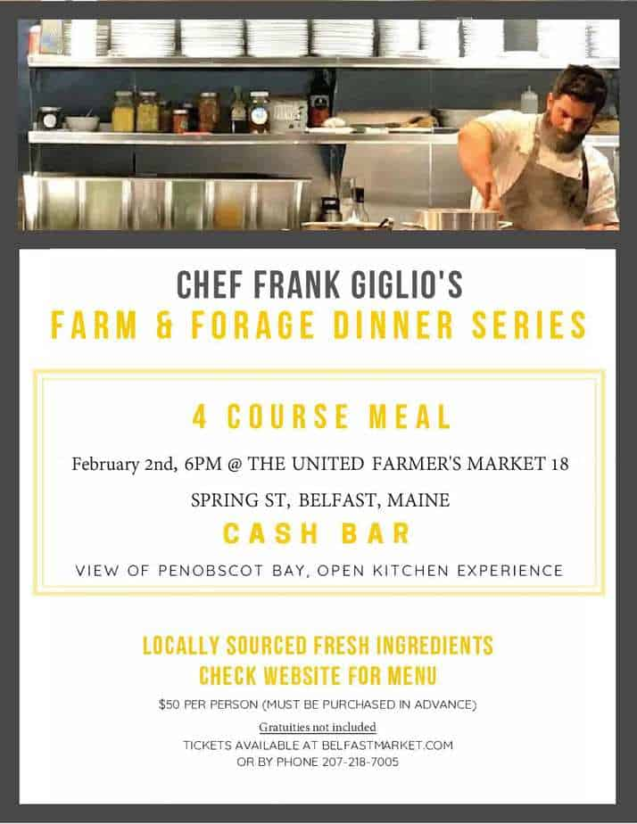 FARM & FORAGE DINNER February 2nd