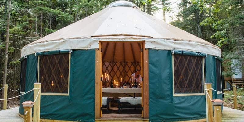 Into the {Maine} Woods: Winter Yurt Dinner