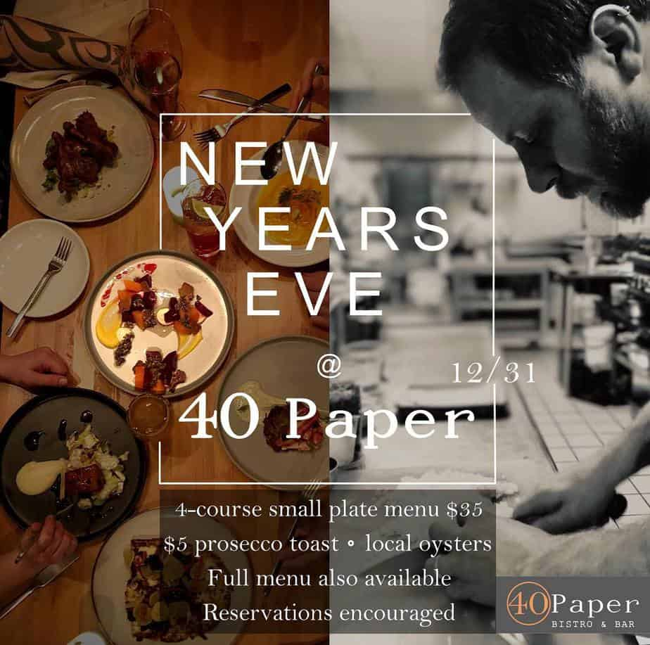 40 Paper Bistro - 4 Course Meal For $35!