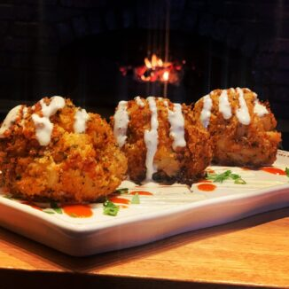 Fried Buffalo Chicken Mac-N-Cheese Balls!